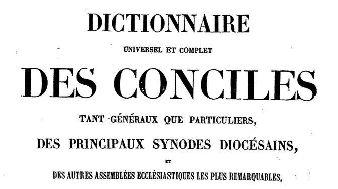 Dictionnaire des conciles